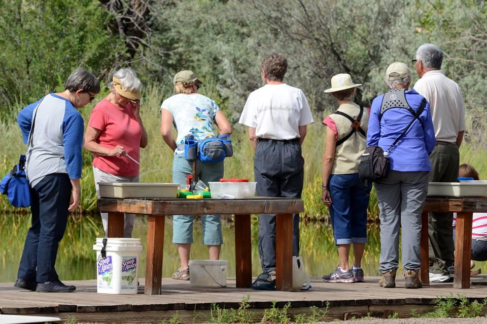Park visitors at Pond Program.