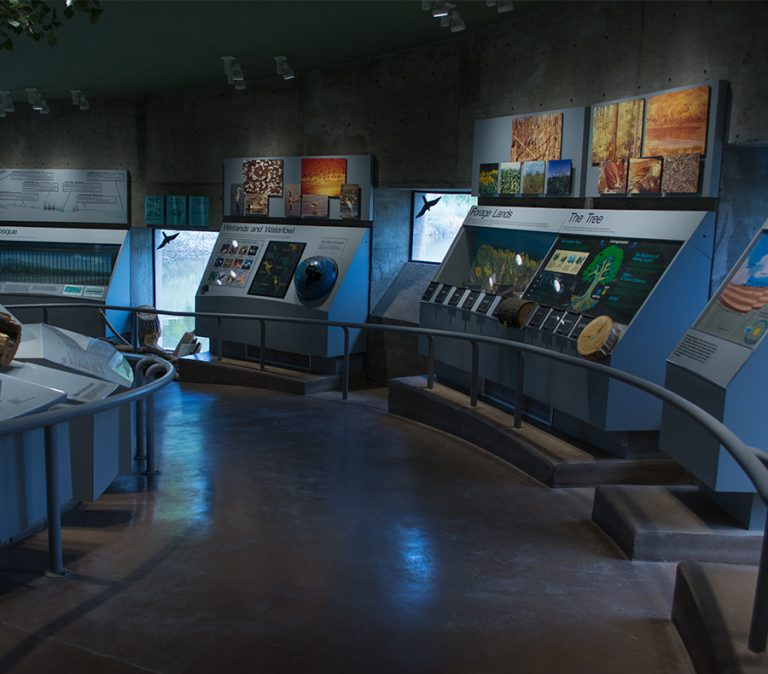 Visitor Center displays.
