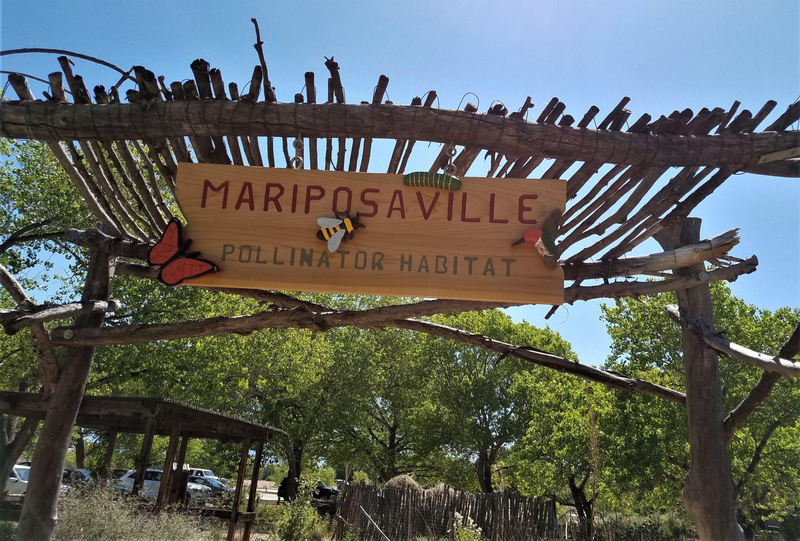 Entrance to Mariposaville garden.