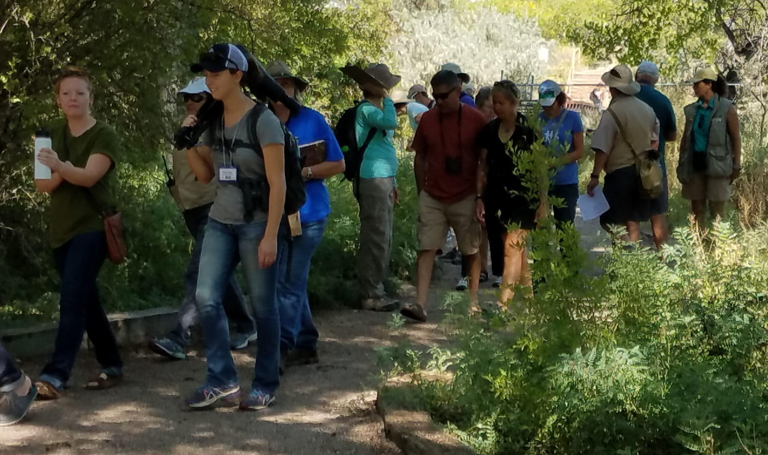 Visitors on Nature Walk.
