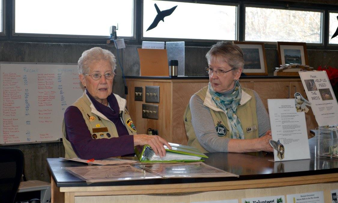 Volunteers at Visitor Center Front Desk